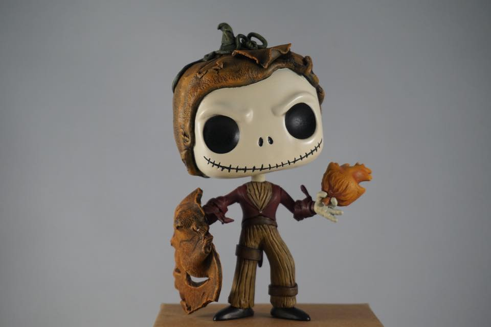 auction alert custom jack skellington by tom shultis   popvinyls com