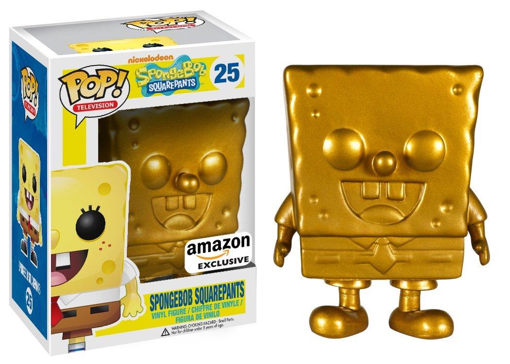 Amazon Exclusive Gold Spongebob Squarepants Popvinyls Com