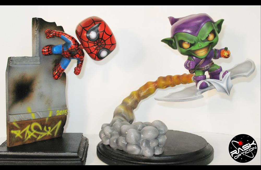 Spiderman vs. Green Goblin by Rask Opticon