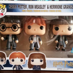 Harry, Ron, & Hermione 3 Pack Pop Vinyls