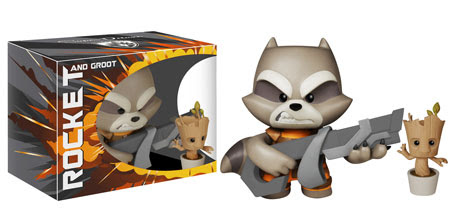 Rocket Raccoon And Groot Super Deluxe Vinyls Popvinyls Com