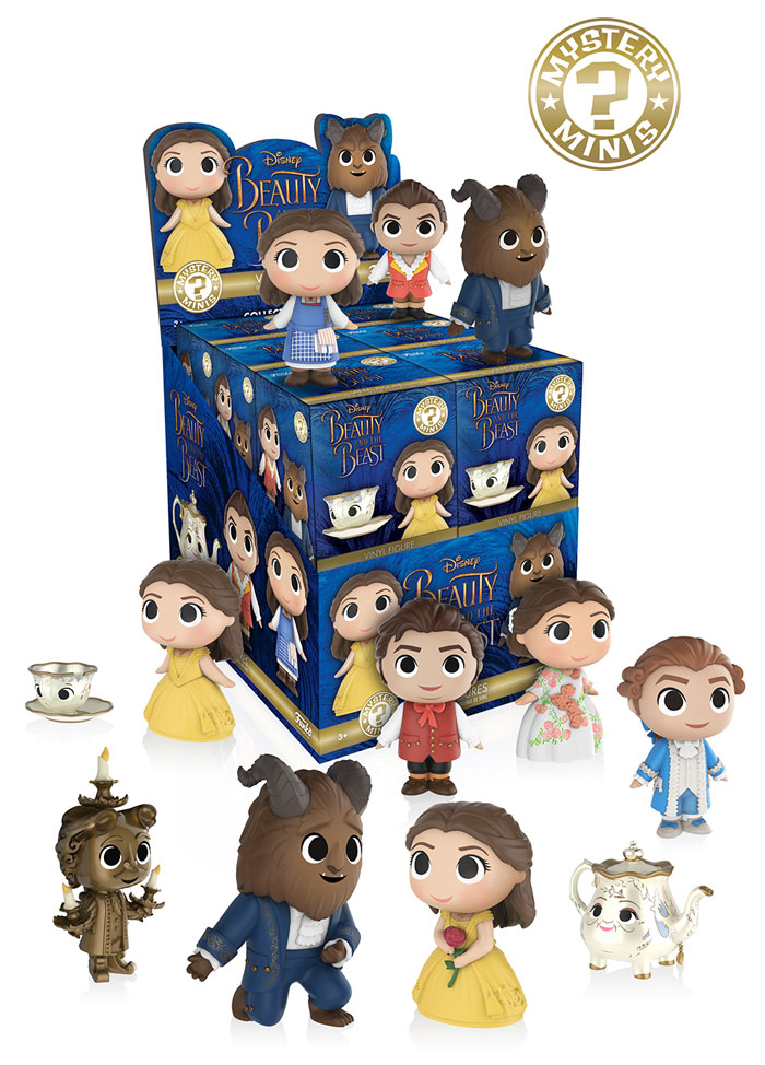 #Beauty and the Beast #mystery Minis #Belle #Beast #Gaston #Lumiere