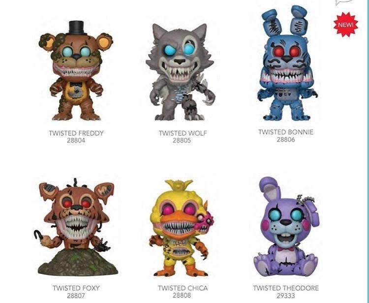 New Five Nights At Freddy S Pop S Are Twisted Popvinyls Com